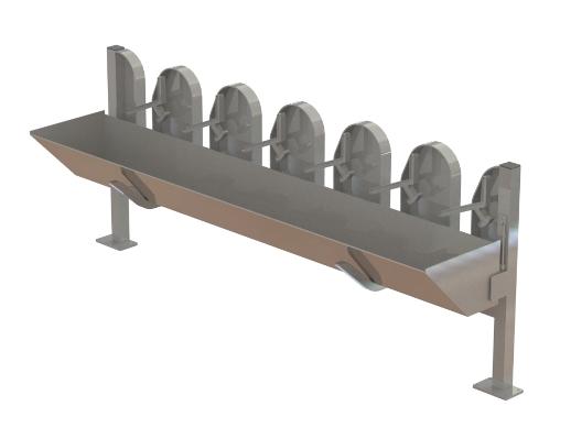 Milking Machine – Milking Systems - Milking Equipment - 9002894 - SHEEP & GOAT YOKE & FEED.TROUGH - Козы и овцы - Yoke & feed trough
