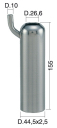 Milking Machine – Milking Systems - Milking Equipment - 4208132 -TCS 44,5X2,5X155 D.26,6 STD - Доильные группы - Other shells