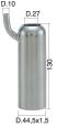 Milking Machine – Milking Systems - Milking Equipment - 4208138 -TCS 44,5X1,5X130 D.27 - Доильные группы - Other shells