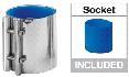 Milking Machine – Milking Systems - Milking Equipment - 9001143 -COUPLING 76,2 x 80 MM          BLUE - Молочная линия - Couplings